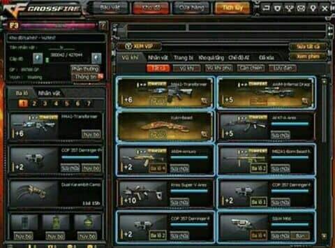 Ạc CF 3vip 300k