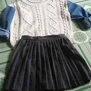 Chân váy xếp li màu xanh của tayshue tại Shop online, Huyện Quan Hóa, Thanh Hóa - 3014946