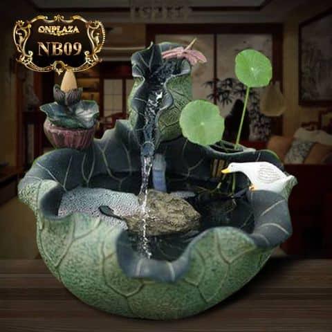 Chậu tiểu cảnh sen đá trang trí NB09 - 6697280 congtynonbo - Công Ty Thi Công Và Thiết Kế Tiểu Cảnh Non Bộ - 32 An Dương, Quận Tây Hồ, Hà Nội
