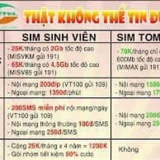 Combo 10 sim sinh viên tk100k của bkstore tại Shop online, Huyện Lộc Bình, Lạng Sơn - 2675533