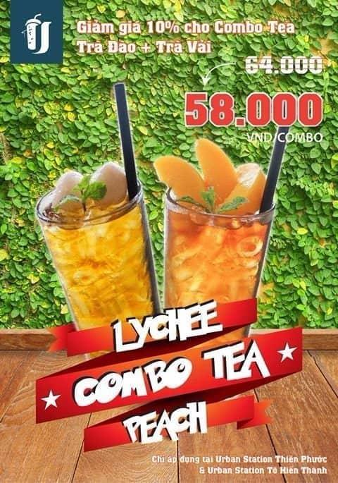 Combo lychee n peach tea - 2702671 hole - Urban Station Coffee Takeaway - Tô Hiến Thành - 288 Tô Hiến Thành, Phường 12, Quận 10, Hồ Chí Minh
