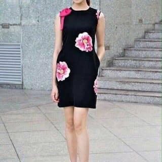 Đầm suông in hoa hồng vai nơ siêu dễ thương của nguyenthihang38 tại Hồ Chí Minh - 3430441