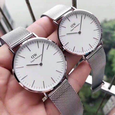 55k - Đồng hồ Daniel Wellington DW dây lưới thép mịn giá sỉ và lẻ rẻ nhất