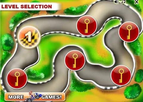 Game mario đua xe - Game vui