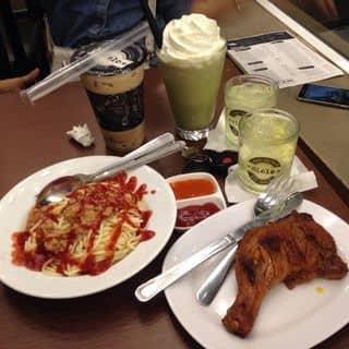Mỳ Ý + Đùi gà BBQ + Matcha cookie + Trà sữa đậu đỏ của buianhngoc2000 tại 51 Bình Thuận, Tân Quang, Thị Xã Tuyên Quang, Tuyên Quang - 1418810