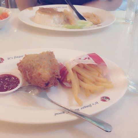 Các hình ảnh được chụp tại KFC - Bà Triệu