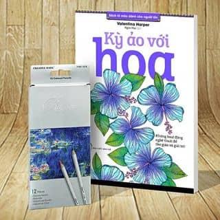 """Sách tô màu người lớn """" kỳ ảo với hoa"""" của hwangseo1996 tại Tây Ninh - 1799693"""