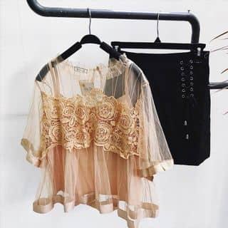 Set áo lưới ren + áo dây hello 🍃  Màu ở ngoài đậm như màu treo sào nhé, màu sáng da kiểu dễ thương không nên bỏ qua ạ ❤️  🌱Giá : #190k 🌱Hàng Qc của ngalekim1985 tại Hồ Chí Minh - 3374405
