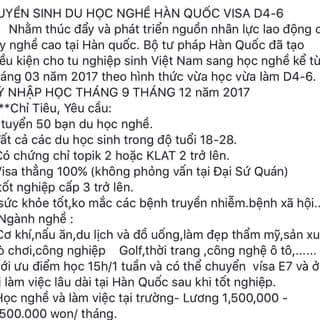 Tuyển sinh du học Hàn Quốc của return tại Hải Dương - 3301787